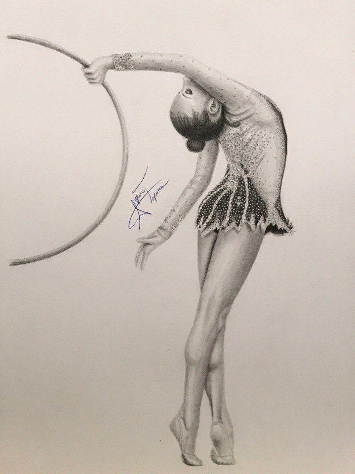 Pin De Freya S Kamalia En Rhythmic Gymnastics Illustrated Gimnasia Dibujo Dibujos De Gimnasia Artistica Danza Dibujo