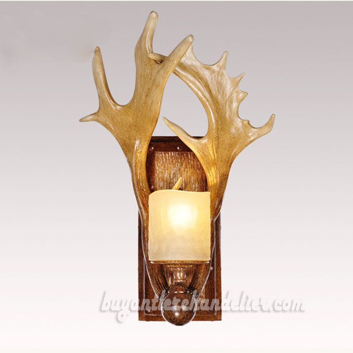sconce lighting rosie light antique antler crystal ok p brass sconces