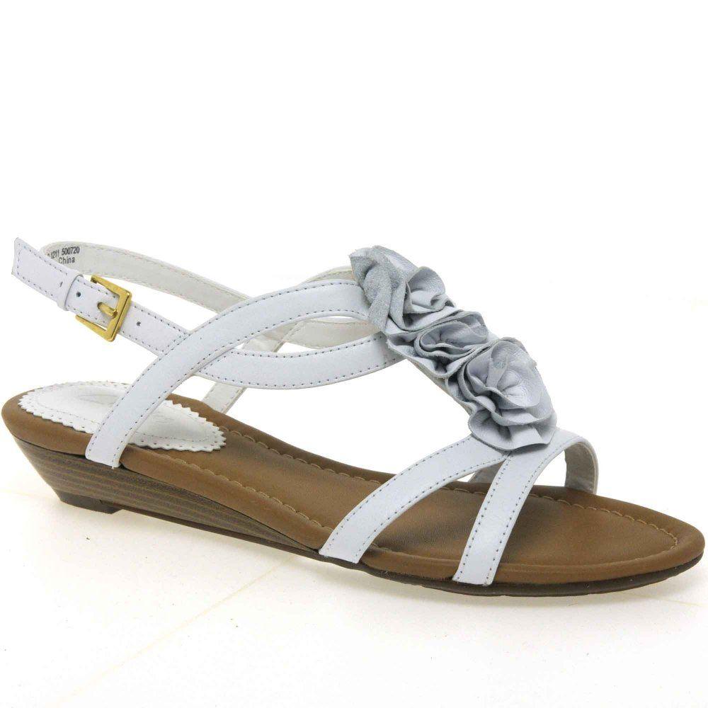 Womens sandals - Clarks Santa Rock White Flower Womens Sandals