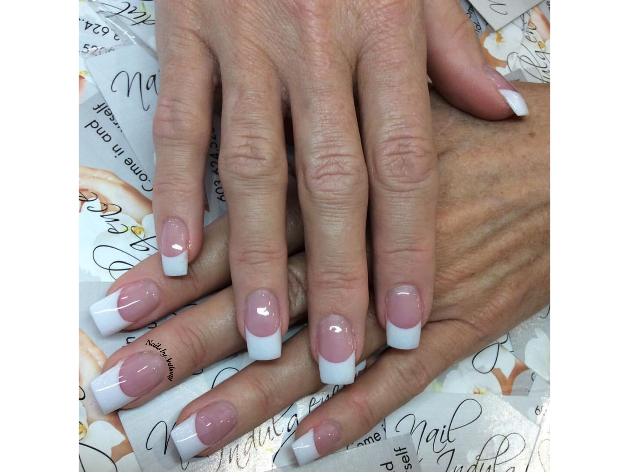 Sparkle French Nails by Anthony | French Manicures | Pinterest ...