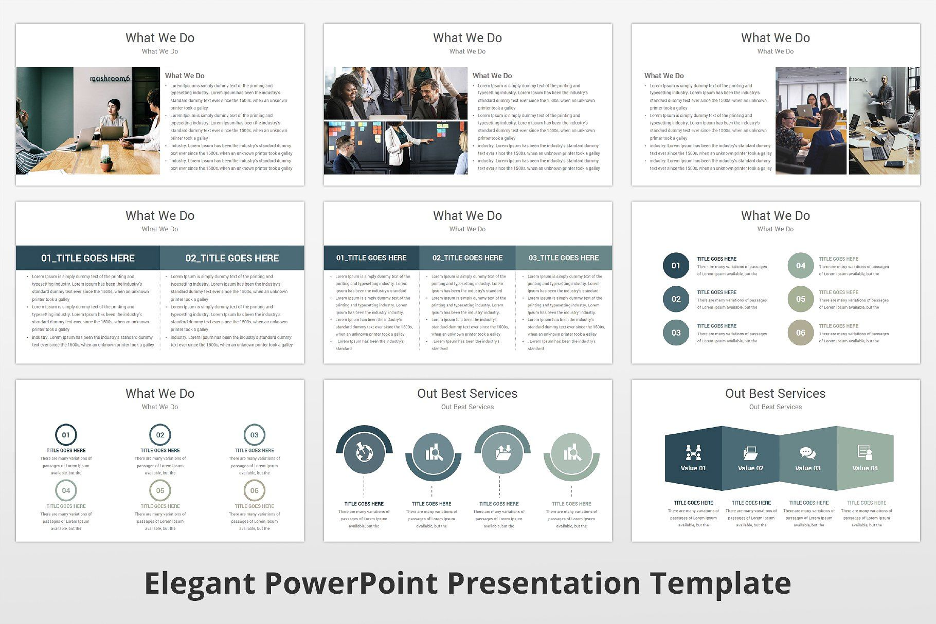 Elegant Powerpoint Template Powerpoint Templates Powerpoint Presentation Templates Powerpoint
