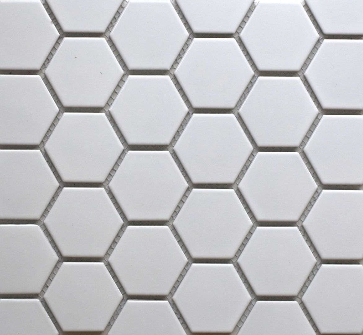 Simple White Hexagonal Tiles are a design classic and can be used in ...