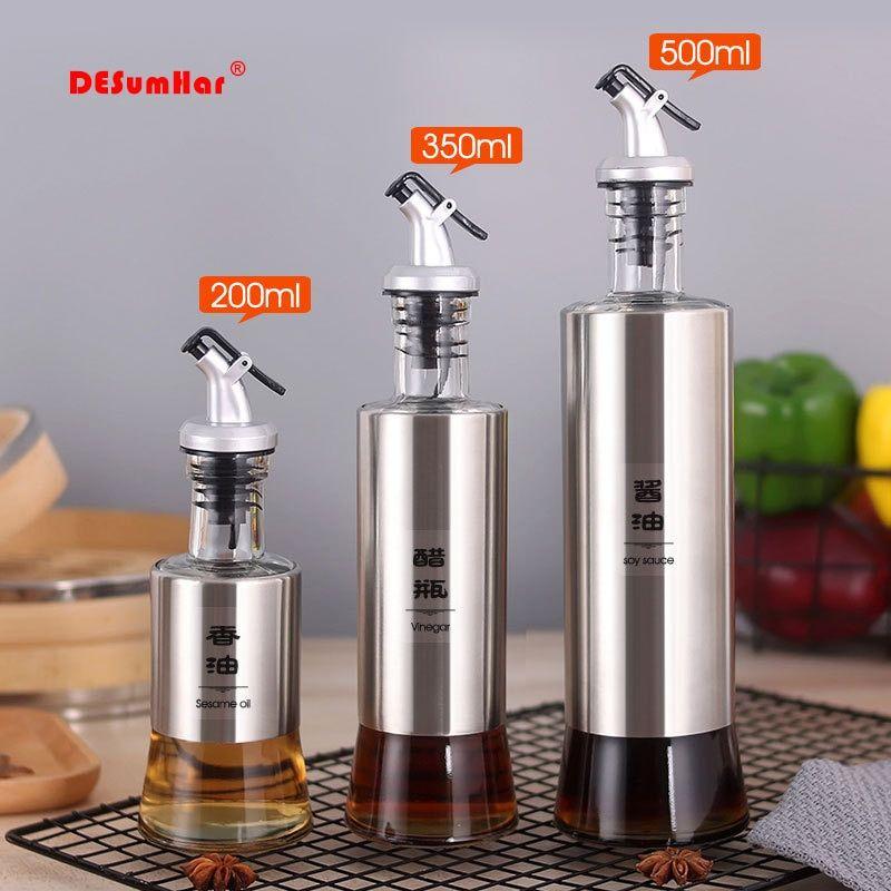 cooking seasoning bottle dispenser sauce bottle glass storage bottles for oil and vinegar on kitchen organization oil and vinegar id=62123