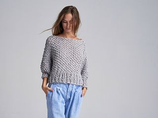 7f617c44f4 The Super Cropped Sweater in Big Cotton will become your new go-to  pullover. Perfect for cool Summer days or a night in. Stay comfortable and  cute all day ...