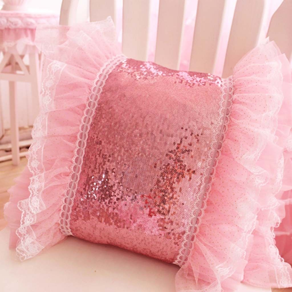 Bling Pink Ruffle Sequin Cushion Cover   Everything\'s better in PINK ...