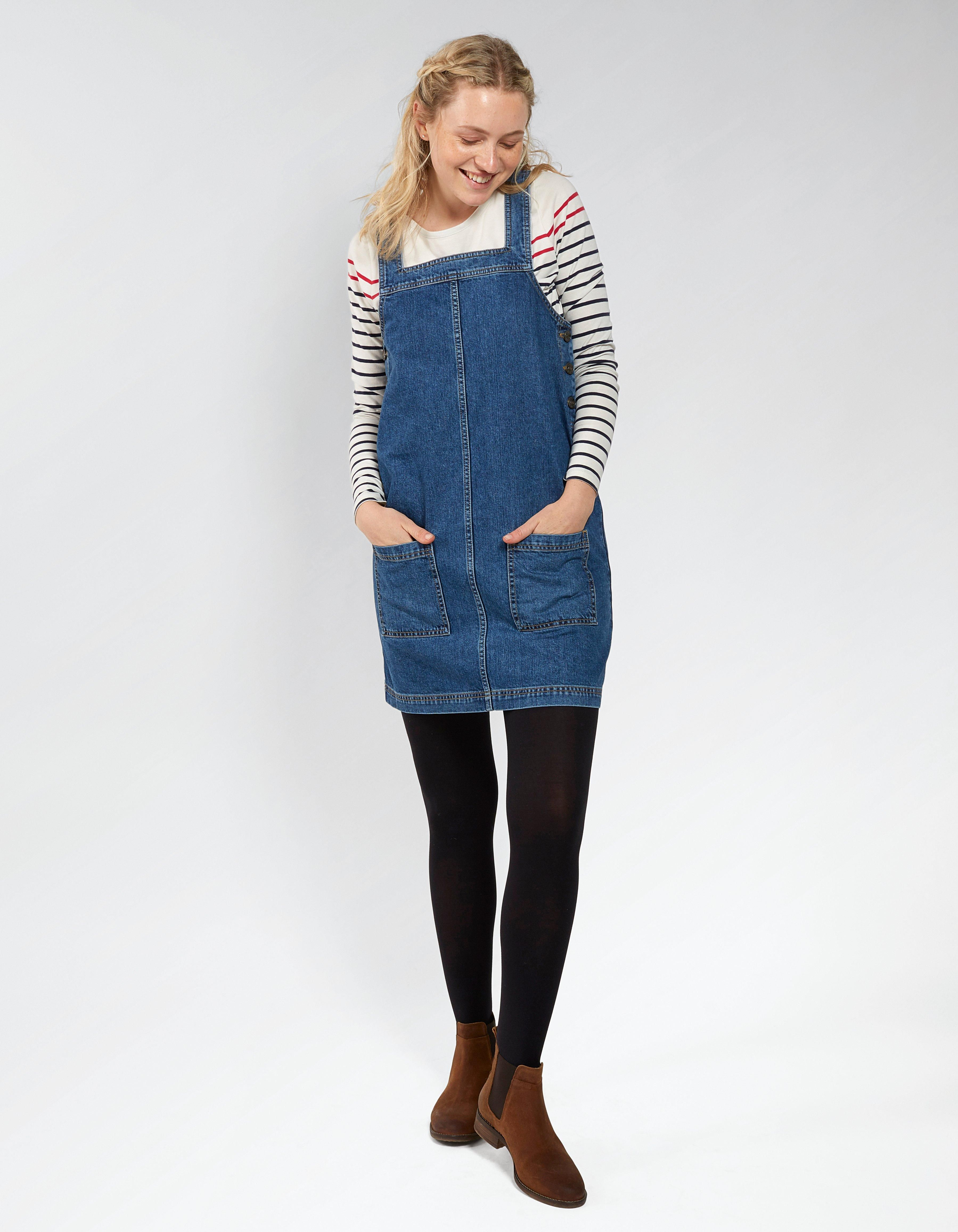 172b03951cdb3 Buy Denim Susan Denim Pinafore Dress today from FatFace. FREE UK Delivery on  all orders over £60.