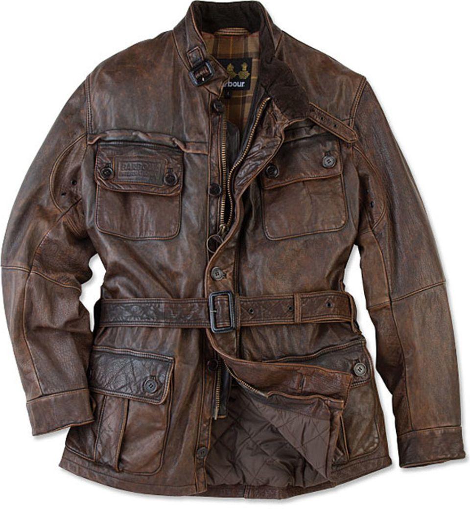 Barbour vintage international leather jacket leather