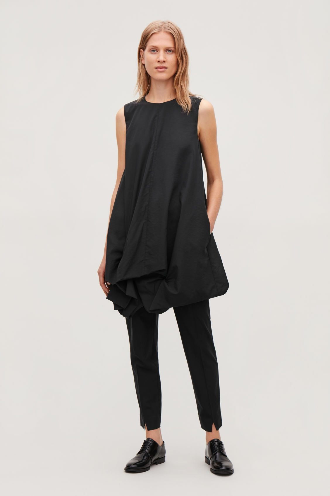 e8e7d235c9b7 GATHERED-HEM SLEEVELESS DRESS - Black - Dresses - COS | FALL/WINTER ...