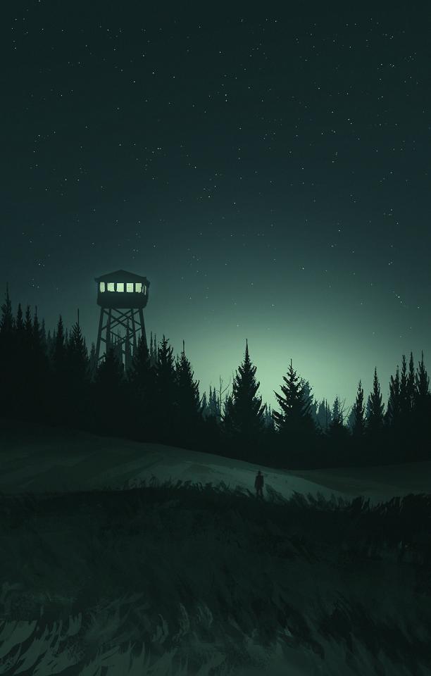 Firewatch Digital painting, Scenery wallpaper, Landscape