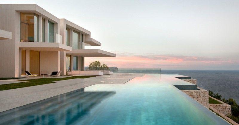 9 Beispiele für Infinity Edge Swimming Pools mit ...