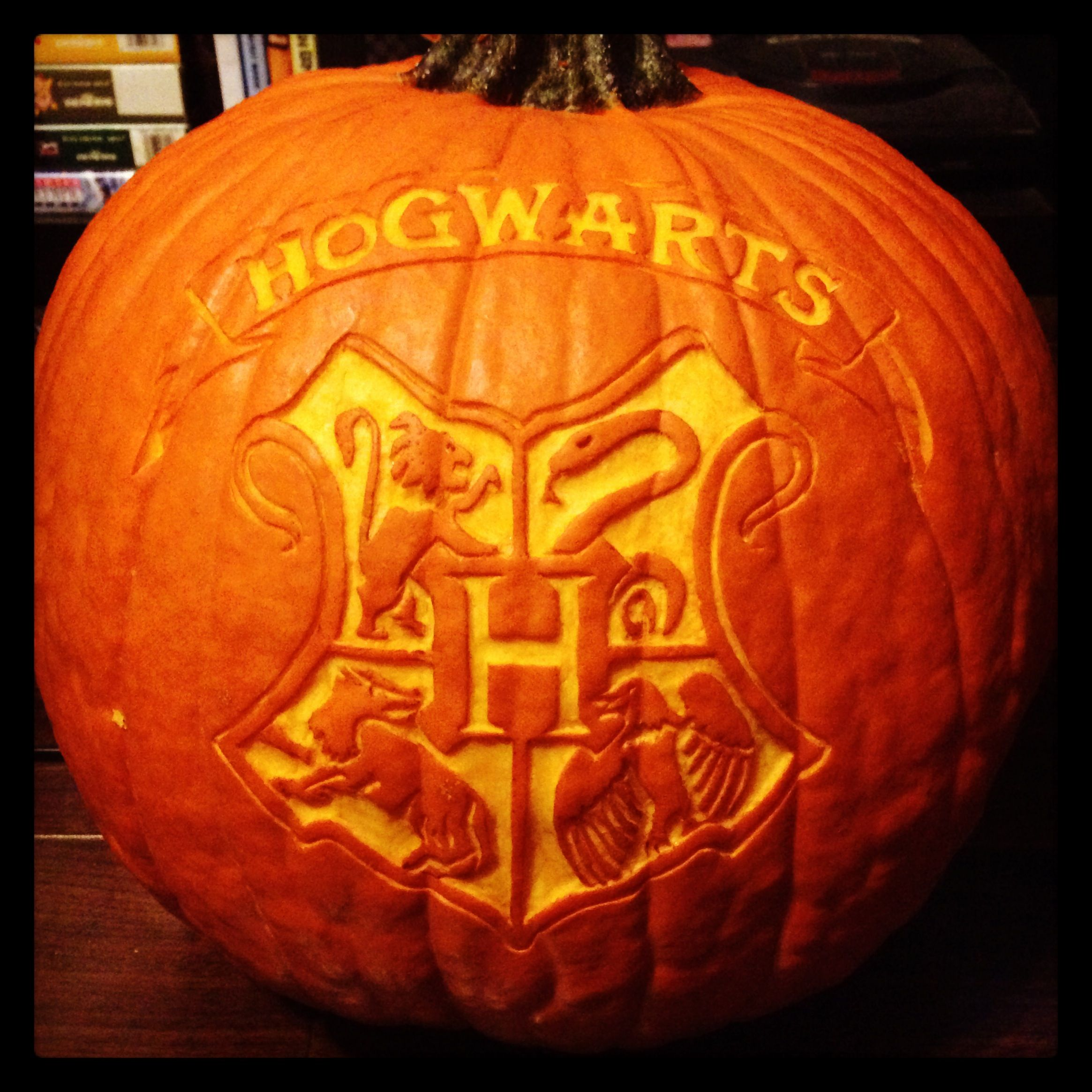 I Carved A Harry Potter Pumpkin Pumpkin Carving Hogwarts School Of Witchcraft And Wizardr Pumpkin Carving Harry Potter Pumpkin Harry Potter Pumpkin Carving