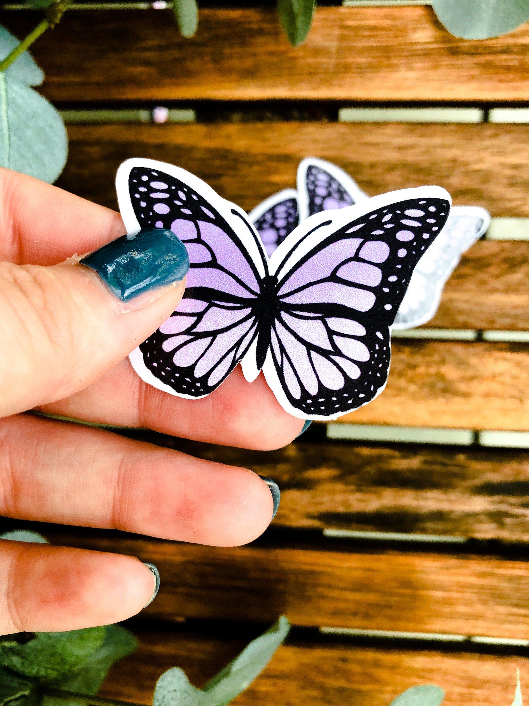 Purple Ombre Butterfly Sticker Premium Vinyl Decal Hydroflask Stickers Vsco Stickers Hydroflask Hydroflask Stickers Aesthetic Stickers