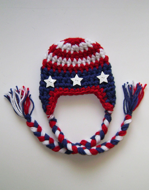 Baby boy hat - Baby girl hat - American Flag hat - Patriotic hat ... deaf5993b7c4