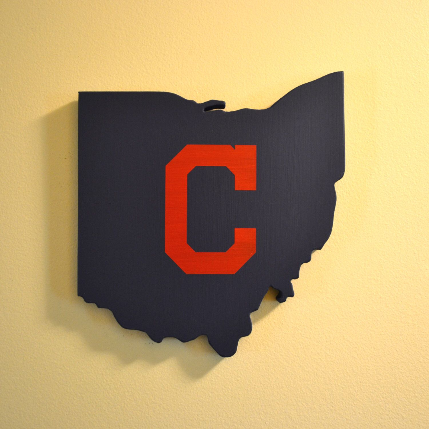 Cleveland Indians Wall Art (Blue with Red C) by OhioWallArt on Etsy ...