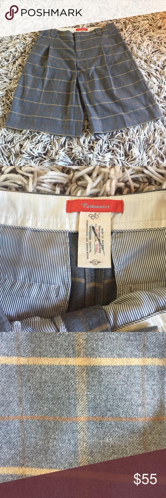 """Anthropologie Cartonnier Plaid Trouser Shorts New without tags Cartonnier Anthropologie Plaid Bermuda Trouser Shorts. Size- 12. Measurements: Waist- 36"""", Hip- 45"""", Inseam- 13"""", Rise- 10.5"""". Tag has a line through to prevent store returns. cartonnier Pants Trousers"""