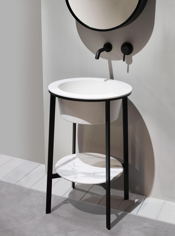 Meuble vasque design / en céramique / à poser / avec miroir ... | {Waschtischunterschrank freistehend 57}