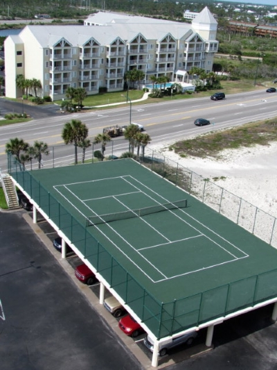 If Only There Were Tennis Courts On Every Parking Garage Tennis Court Tennis Court Design Tennis