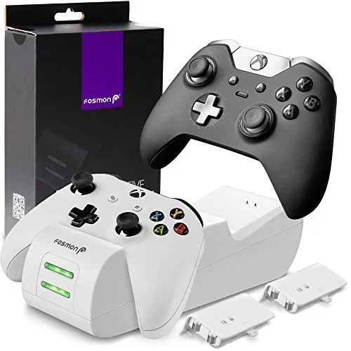 Fosmon Xbox One One X One S Controller Charger Dual Slot High Speed Docking Charging Charging Docking Station Xbox One Controller Xbox One Elite Controller