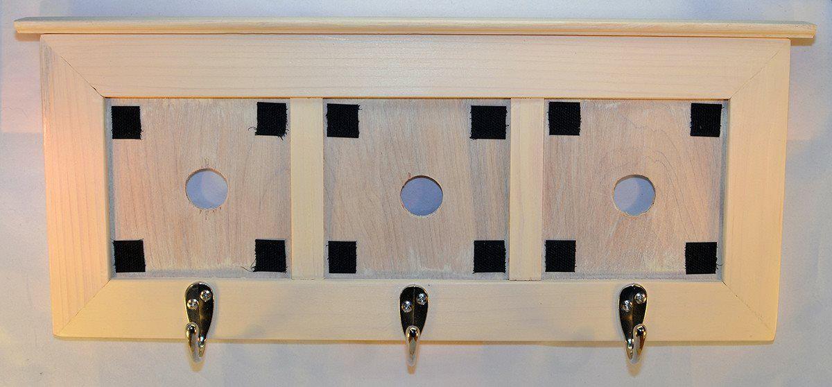 Decorative Ceramic Tile Frame - Three Tile Wooden Frame with Coat ...