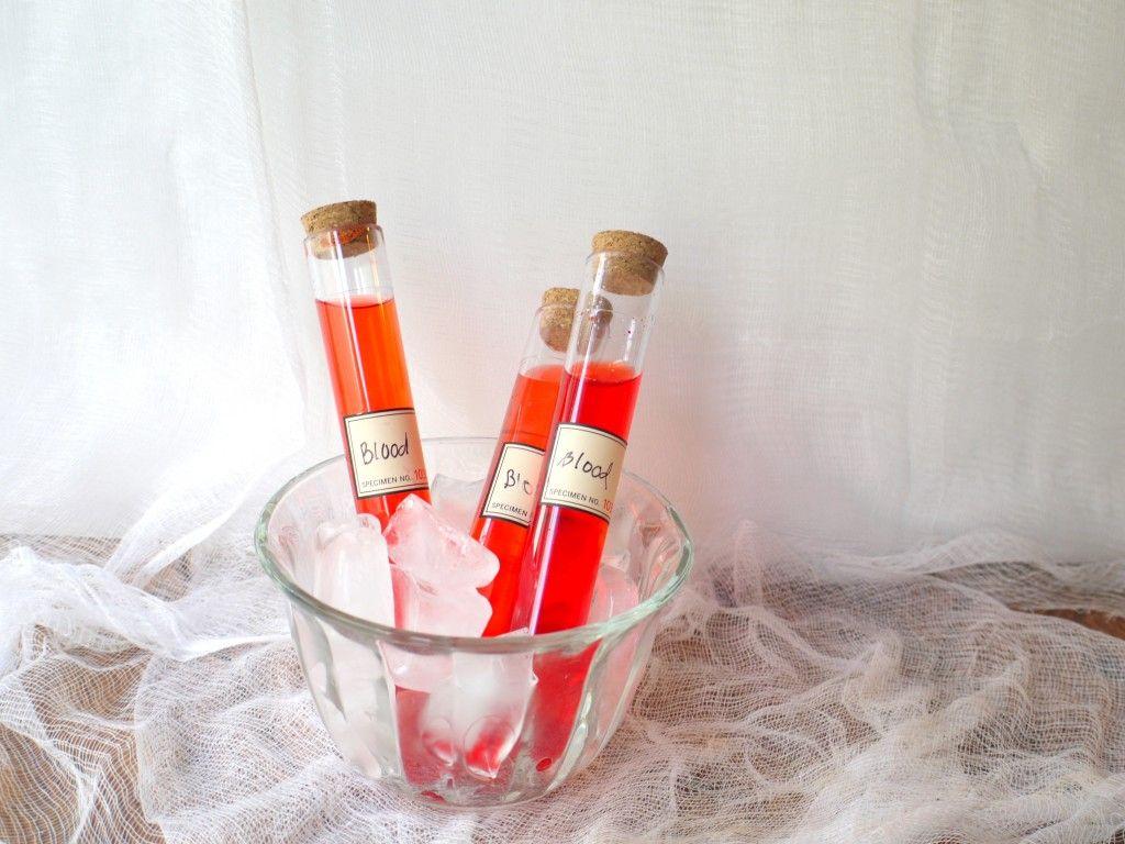 Halloween Drink Vials with Bleeding Heart Shots for your next ...