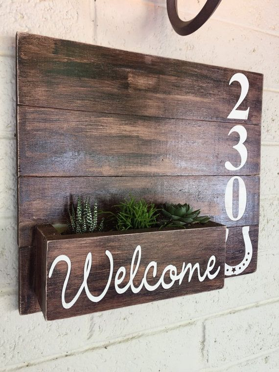 Address Planter Box Address Numbers By Traylormadedesigns Diy Front Porch Home Diy House Numbers Diy