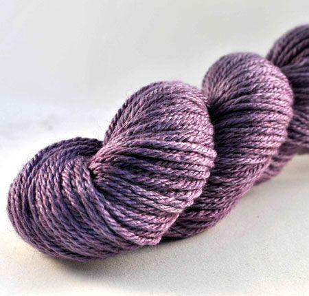 Merino and silk wool.