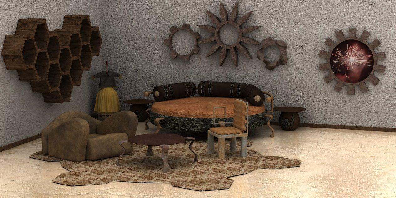 Modern steampunk decor