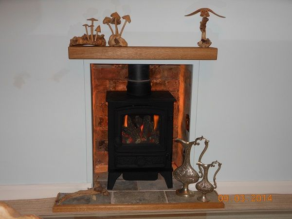 A Floating Oak Mantel Shelf That We Made For Mr Foxley