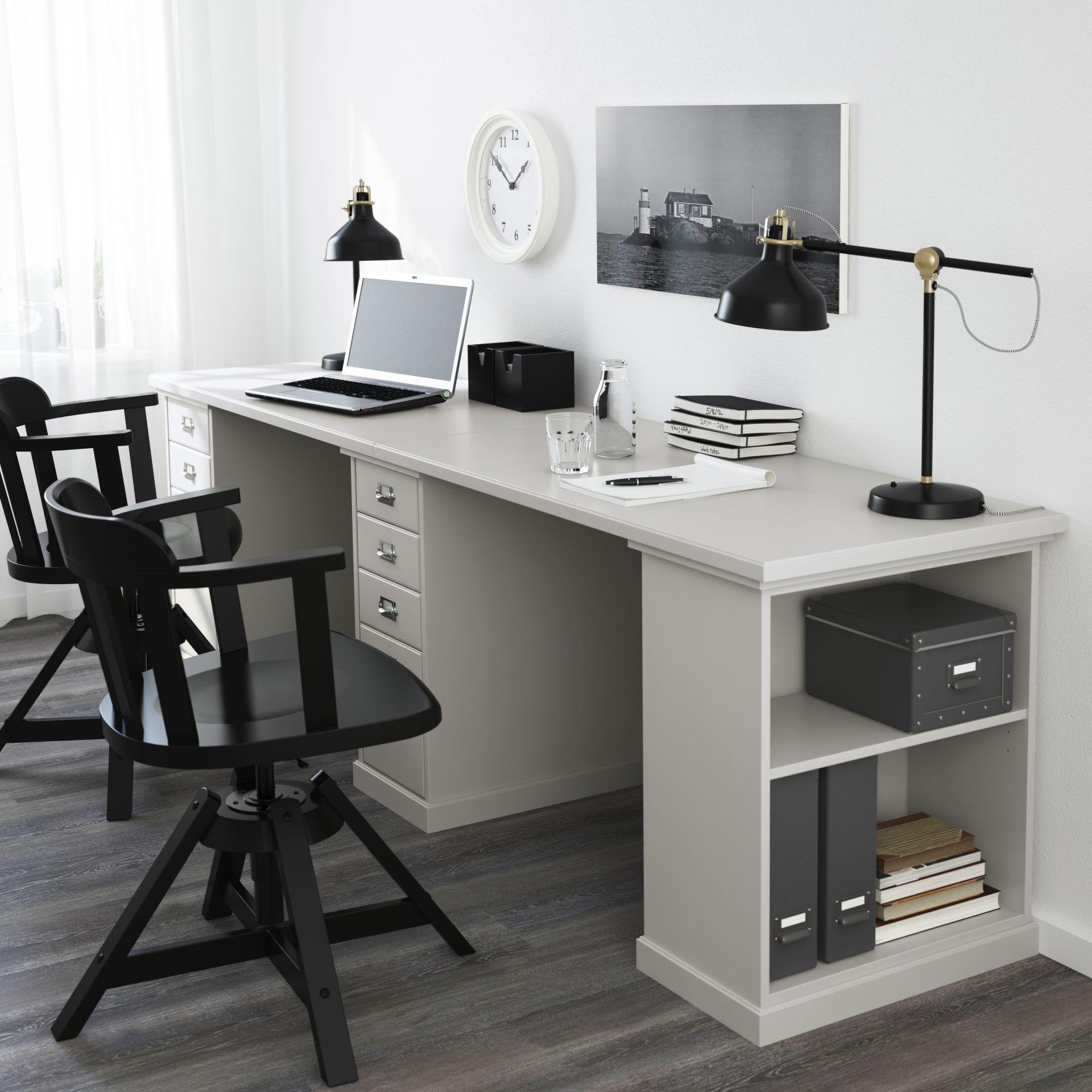 klimpen tafel lichtgrijs grijs studeren werkkamer en bureaus. Black Bedroom Furniture Sets. Home Design Ideas
