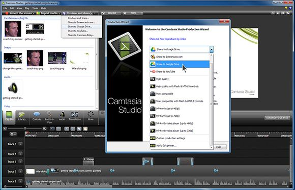 Camtasia Studio Preview