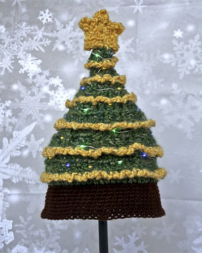 light me up christmas tree hat pattern by tonya bush