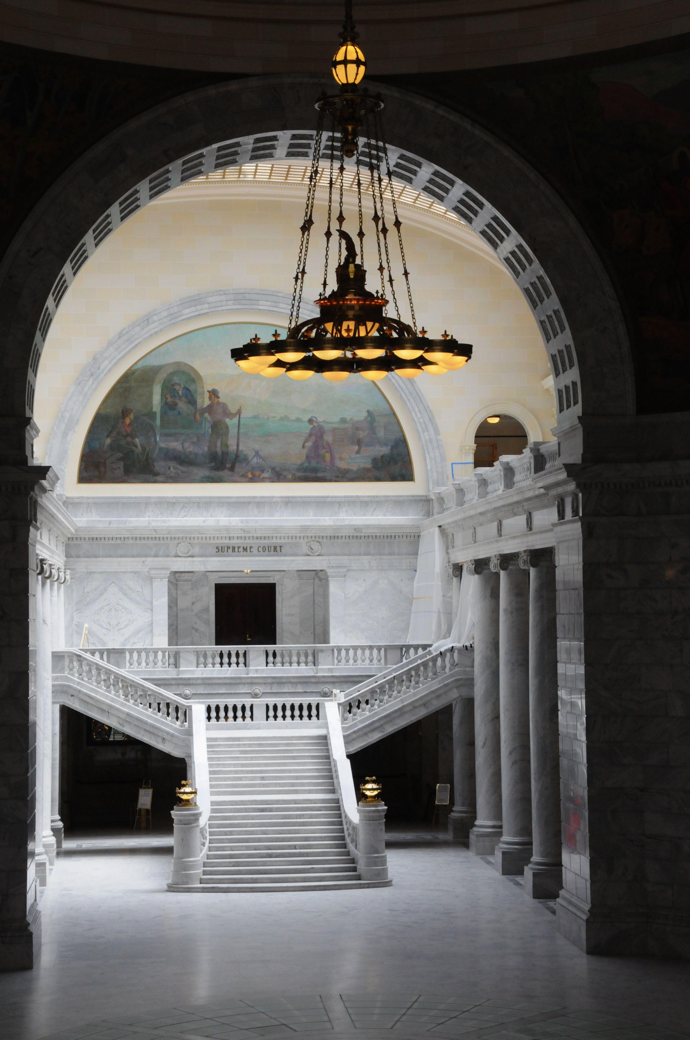 Interior of the utah state capitol in salt lake city utah