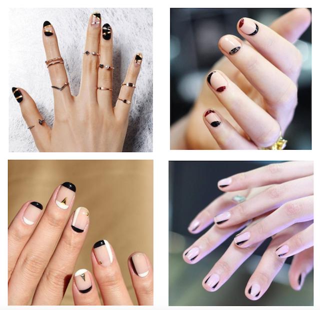 Graphic Linear Nail Art Inspiration | Seattle fashion, Korean nail ...