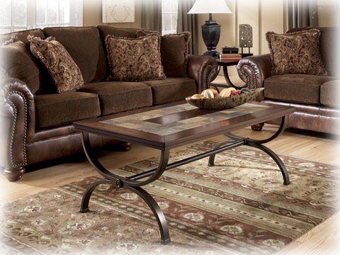 Ashley Furniture Zander Medium Brown Coffee Table Set Coffee Table Wood Slate Coffee Table Coffee Table