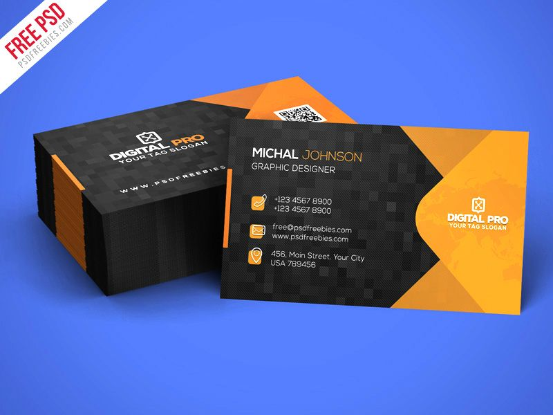 Free Psd Modern Corporate Business Card Template Psd In 2020