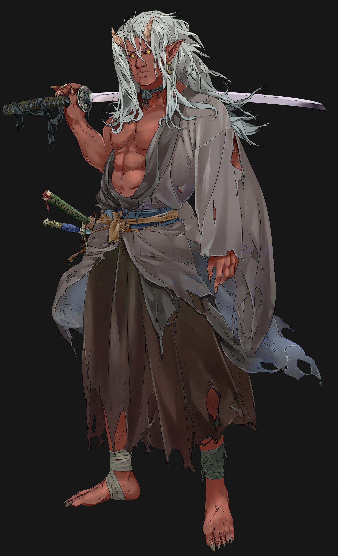 ArtStation Oni, Victoria Yurkovets Fantasy samurai