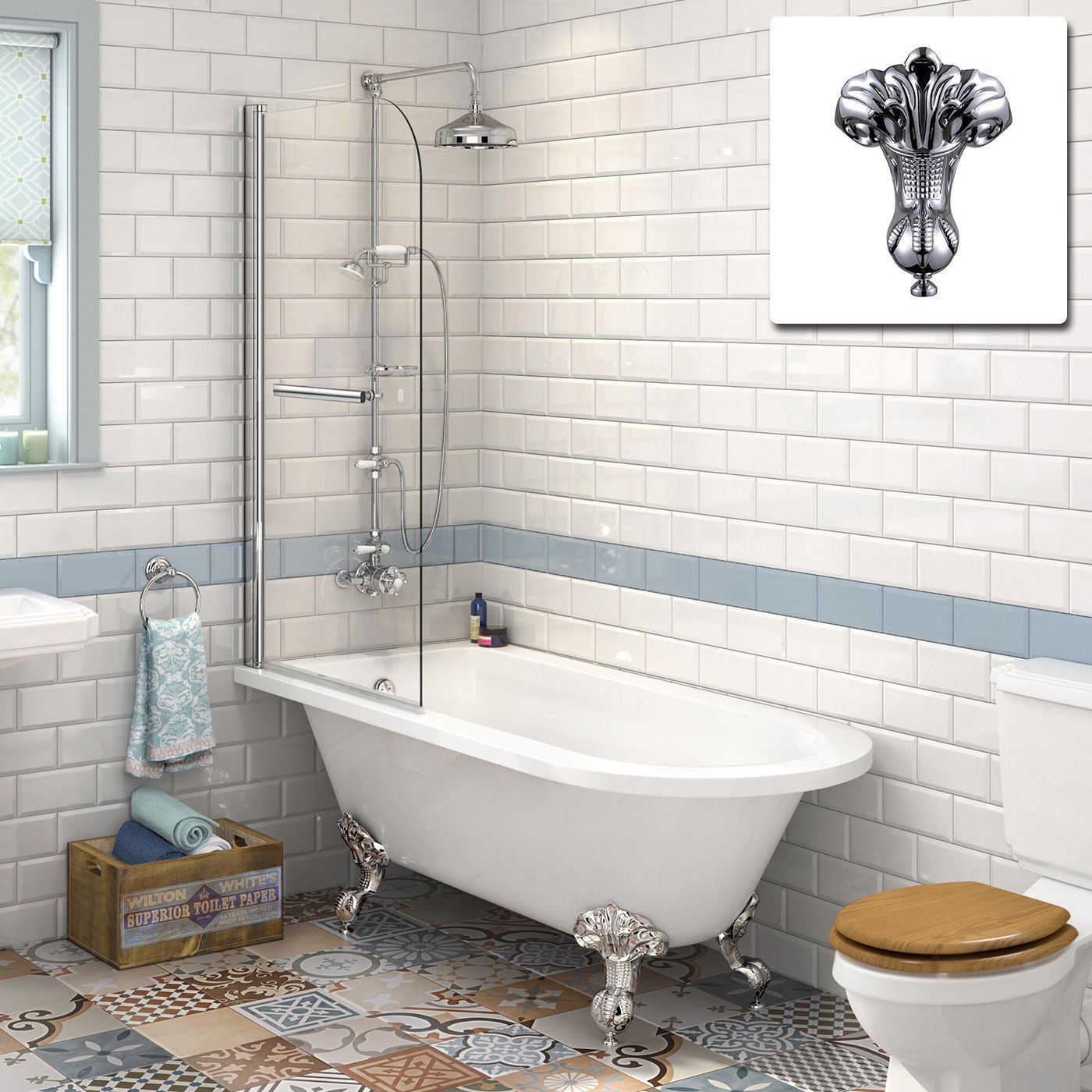 Our Stylishly Designed Traditional Baths Comes With A Clever Back To Wall Design That Allows You Maximise On Space And Provides Added