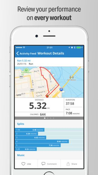 Sencillez Vamos Síguenos  Map My Run – GPS Running and Workout Tracker on the App Store | Map my run,  Workout, Map