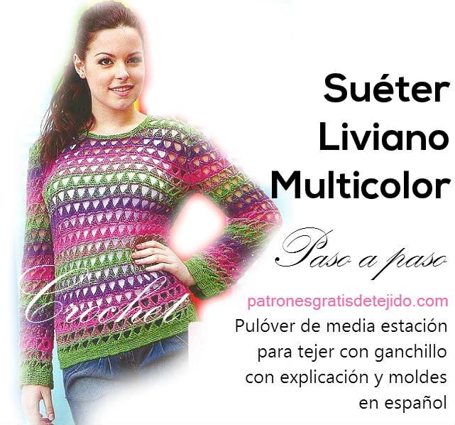 pulover para tejer crochet paso a paso | Knit/Crochets Tops ...