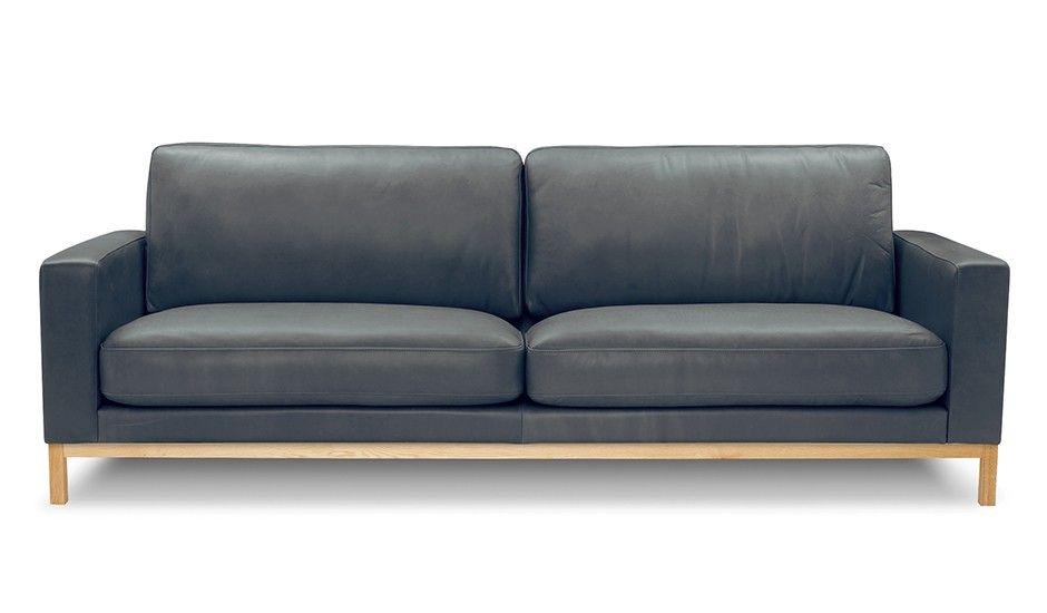 Ledersofa dunkelgrau  3-Sitzer Ledersofa - Grau von Sitzfeldt | MONOQI | favourite sofas ...