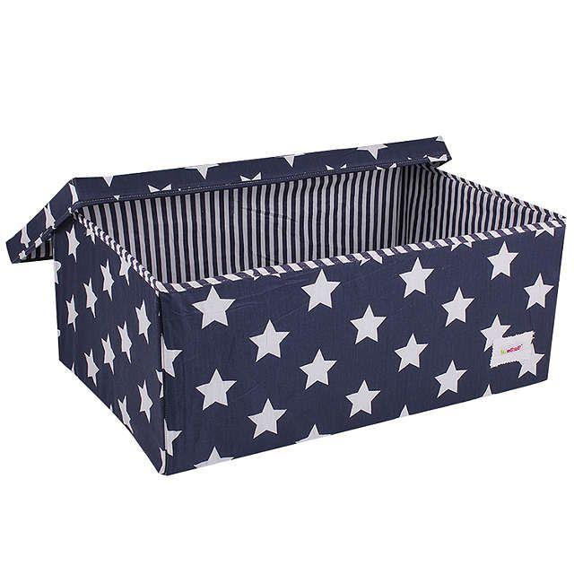 BuyMinene Large Star Storage Box, Navy Online At Johnlewis.com