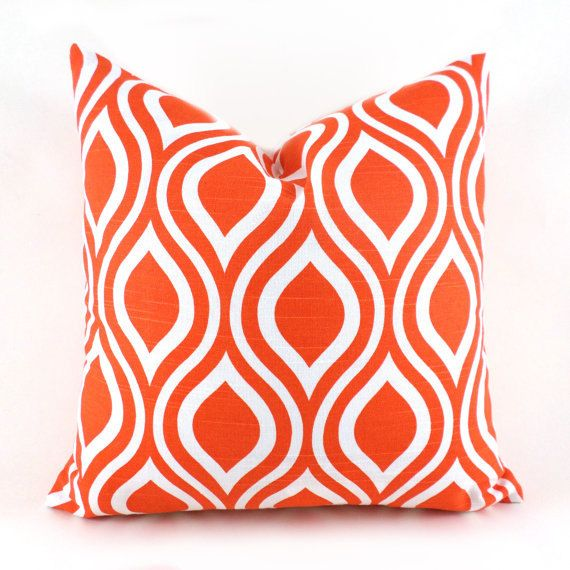 Decorative Throw Pillow Cover You Choose Any Size Orange Pillow Covers