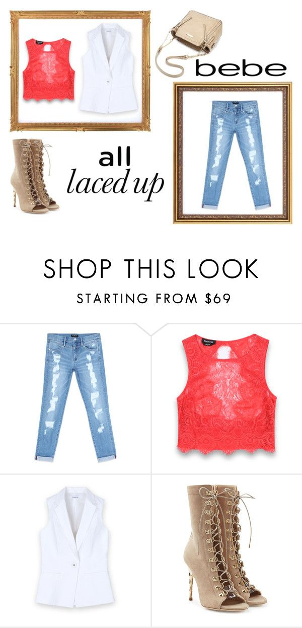"""""""All Laced Up for Spring with bebe: Contest Entry"""" by marianvirtua on Polyvore featuring moda, Bebe, Balmain y alllacedup"""