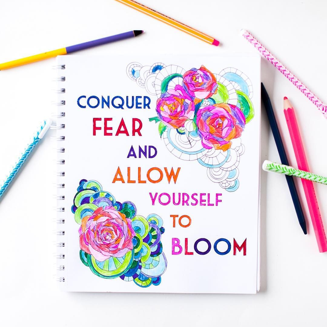 Natural Truths Adult Coloring Book Positive Quotes Nature Illustrations Motivation Inspiration
