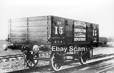 Railway Photograph Private Owner 5 Plank Wagon No 125 Hamilton Corporation Wagon Railway Wagons