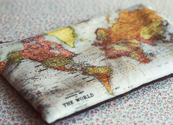 The world map small zipper pouch coin by modernismandvintage the world map small zipper pouch coin by modernismandvintage gumiabroncs Image collections