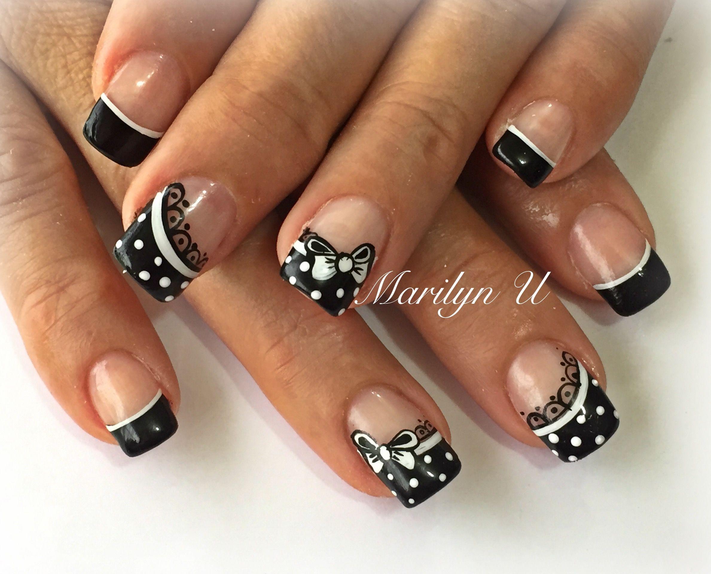 Black and white nails | Diseño De Uñas | Pinterest | White nails ...