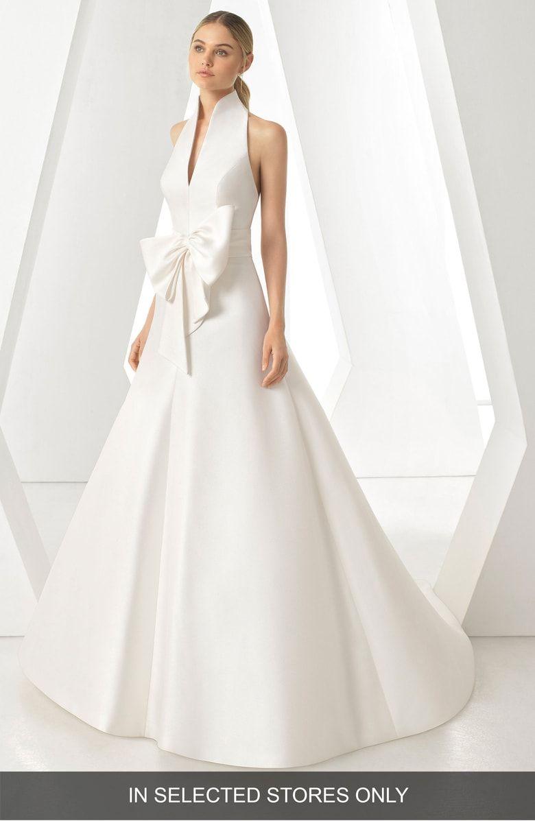 Rosa Clara Dores Halter Ballgown Wedding Dress Nordstrom Ball Gown Wedding Dress Wedding Dresses Ball Gowns