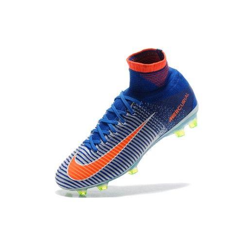 newest 844be add27 Bast 2017 Nike Mercurial Superfly V FG Bla Orange Fotbollsskor