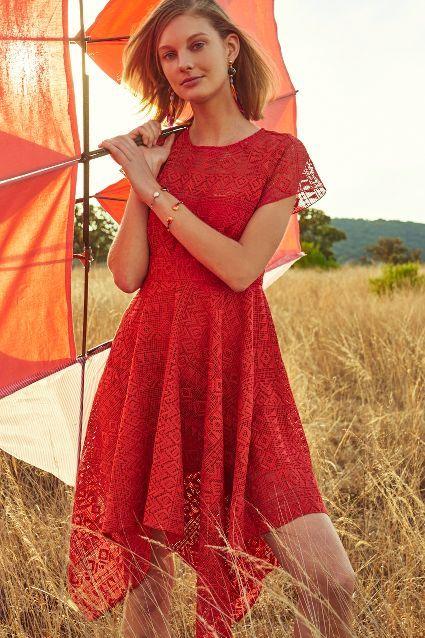 f5180b5f56443 Prima Lace Dress | Clothes | Lace Dress, Dresses, Gingham dress